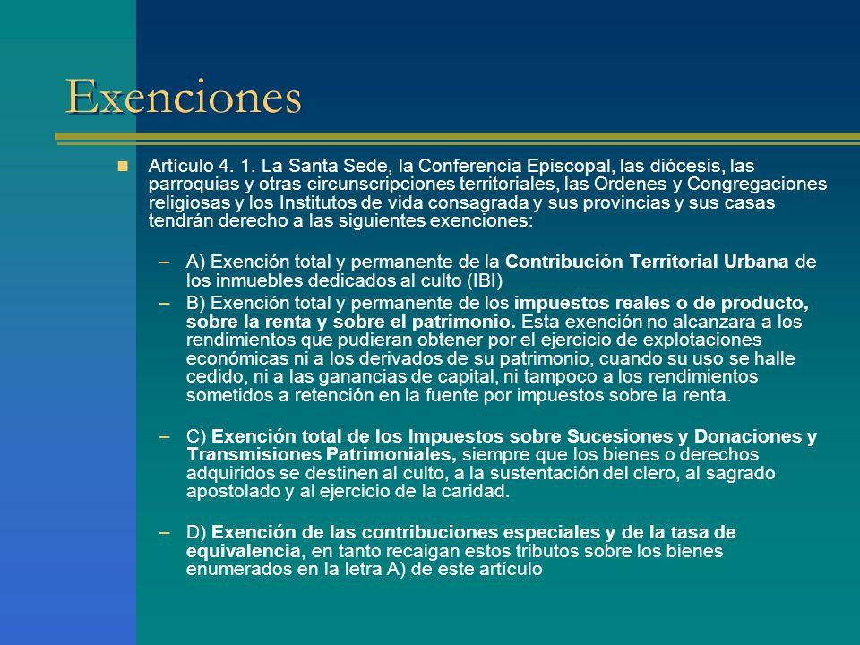 Exenciones Artículo 4. 1.