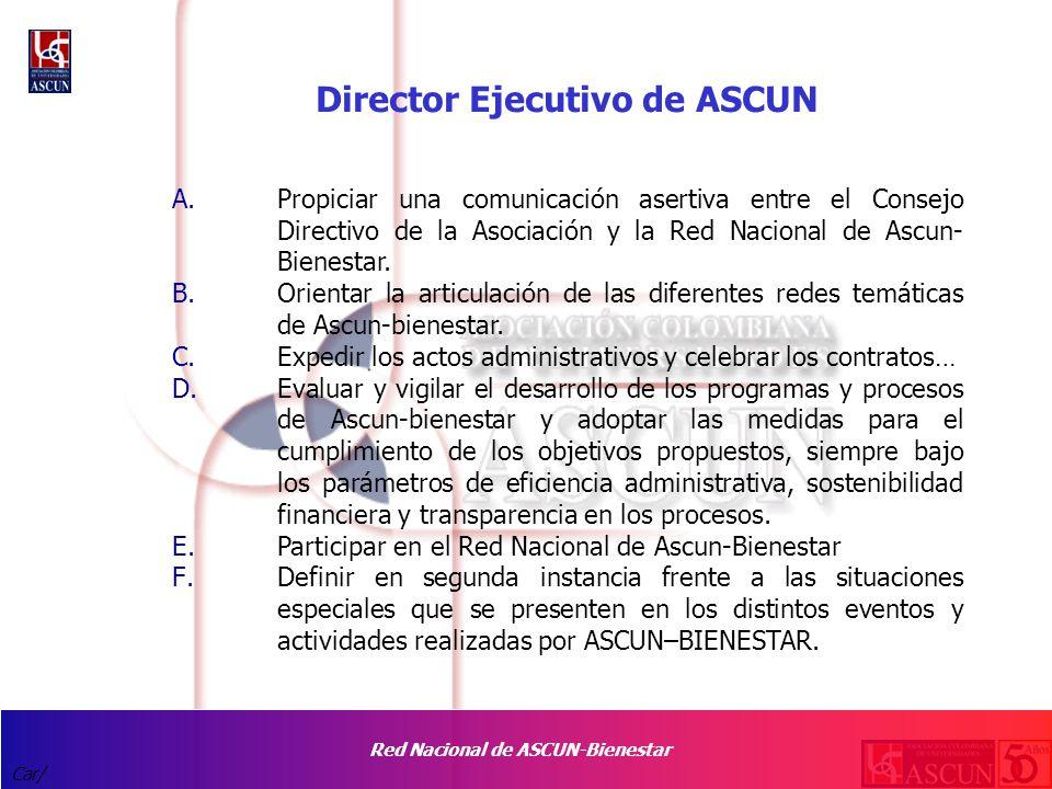 Red Nacional de ASCUN-Bienestar Car/ Director Ejecutivo de ASCUN A.