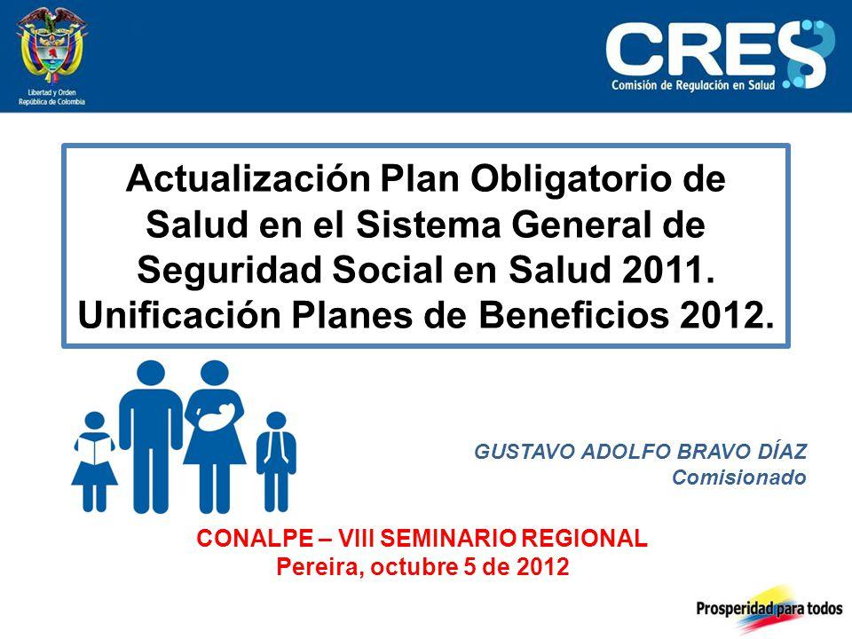Actualización Plan Obligatorio de Salud en el Sistema General de Seguridad Social en Salud 2011.