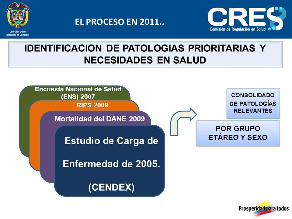 Estudio de Carga de Enfermedad de 2005.