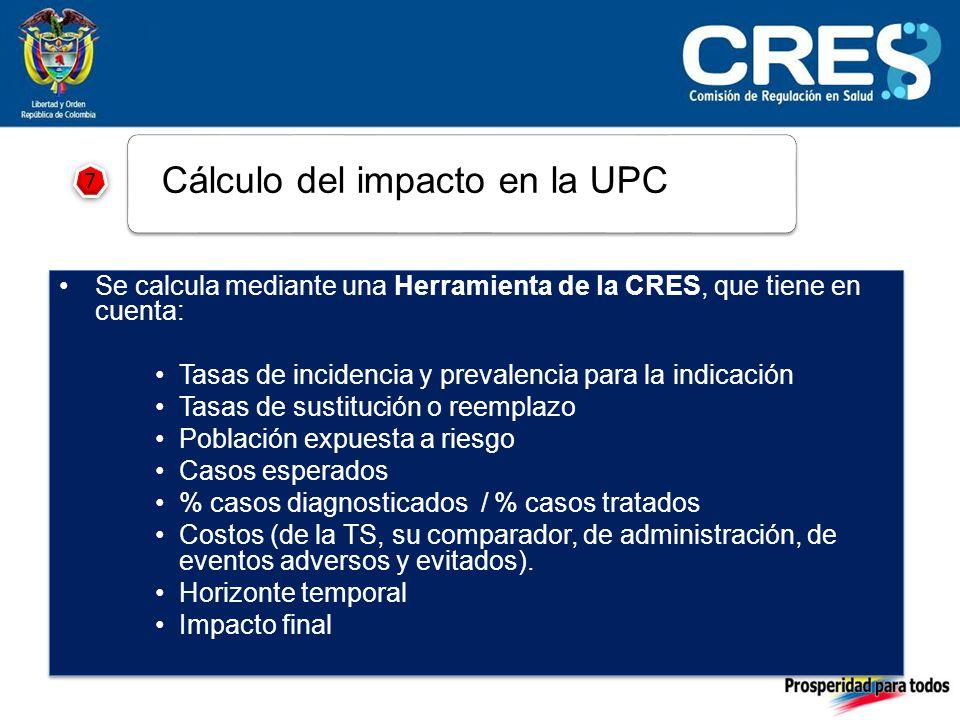 7 7 Cálculo del impacto en la UPC
