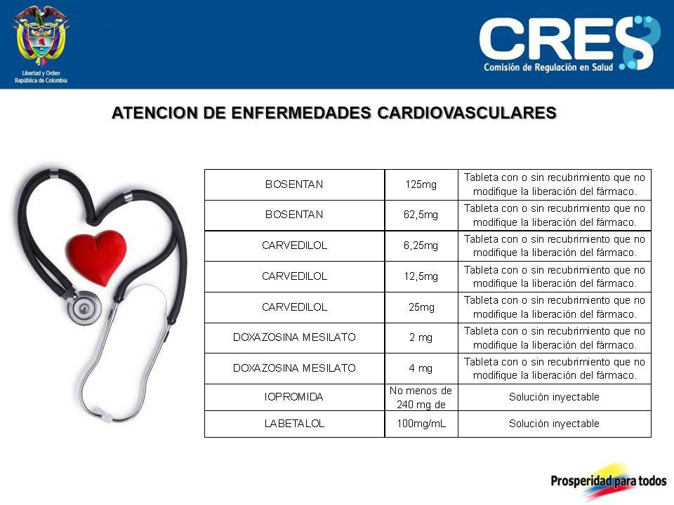 ATENCION DE ENFERMEDADES CARDIOVASCULARES