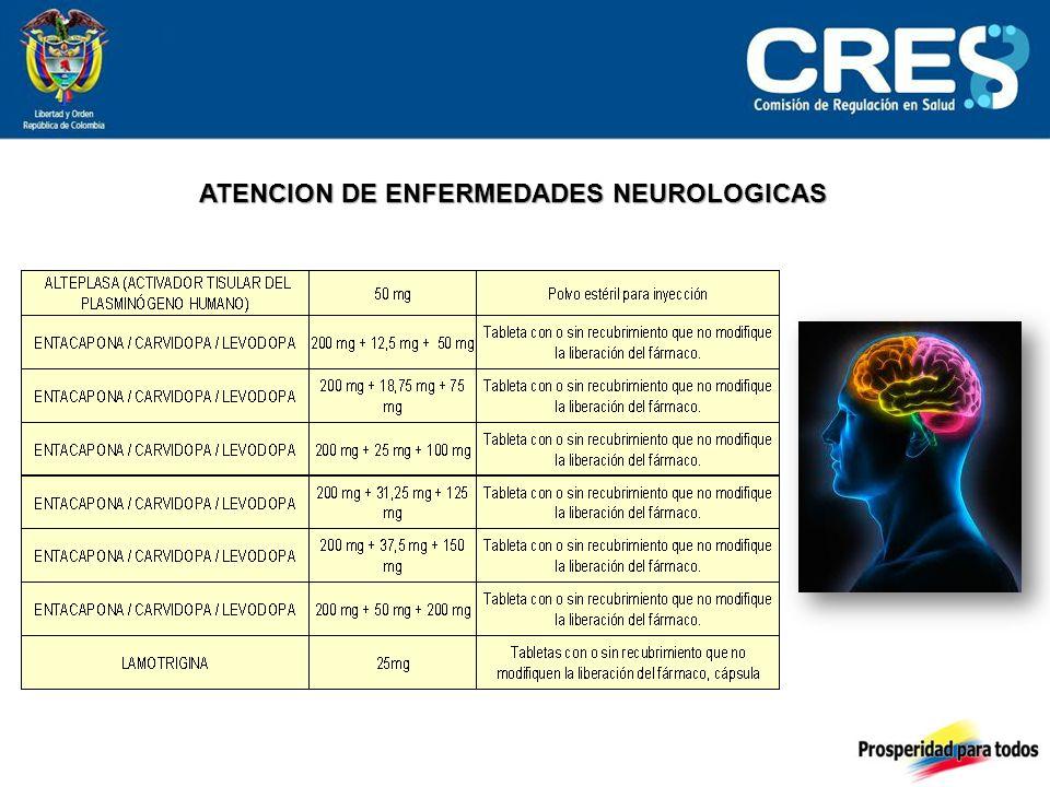 ATENCION DE ENFERMEDADES NEUROLOGICAS