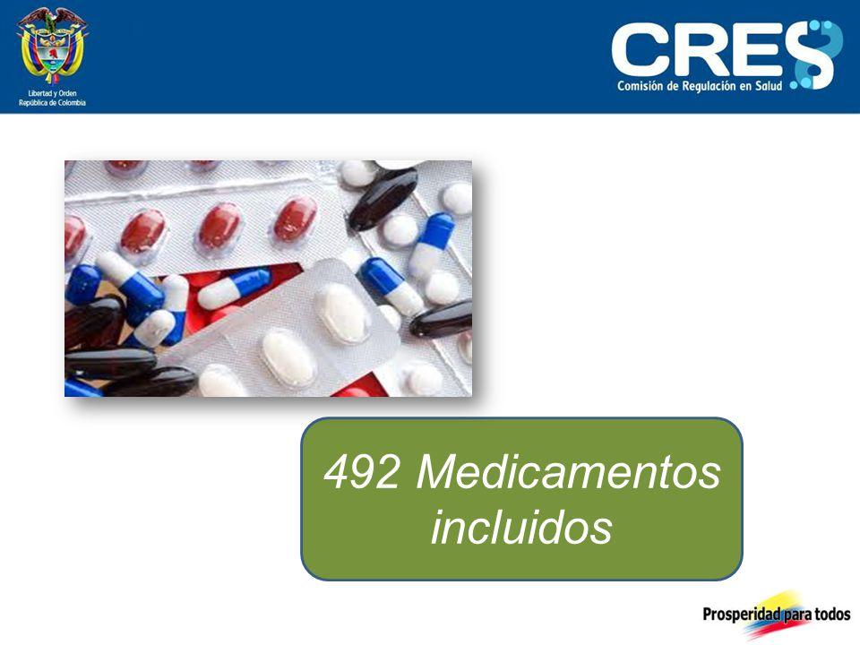 492 Medicamentos incluidos