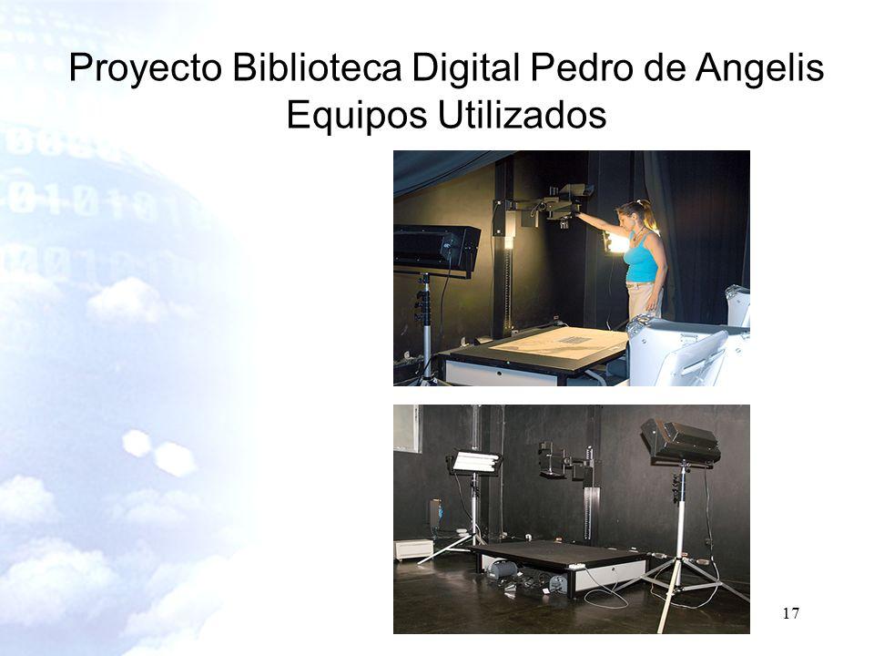 17 Proyecto Biblioteca Digital Pedro de Angelis Equipos Utilizados