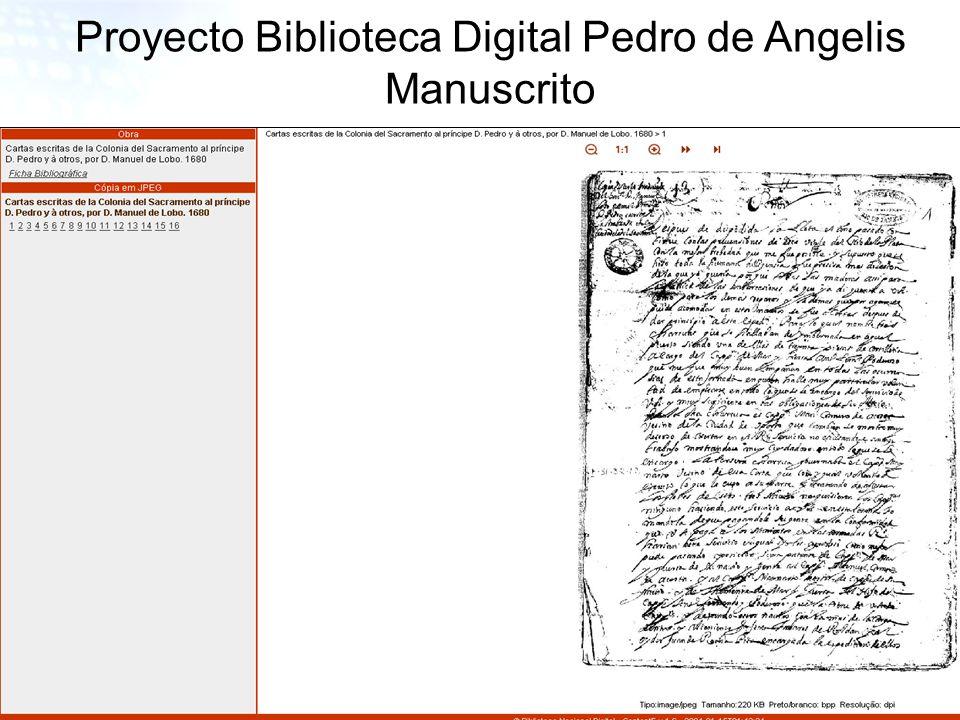 26 Proyecto Biblioteca Digital Pedro de Angelis Manuscrito