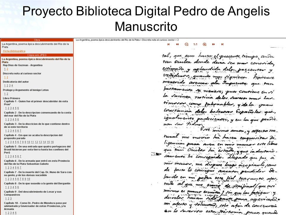 27 Proyecto Biblioteca Digital Pedro de Angelis Manuscrito