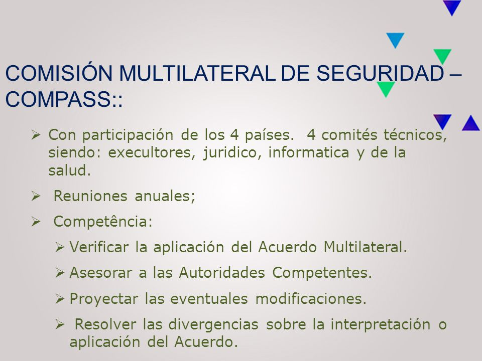 COMISIÓN MULTILATERAL DE SEGURIDAD – COMPASS::  Con participación de los 4 países.