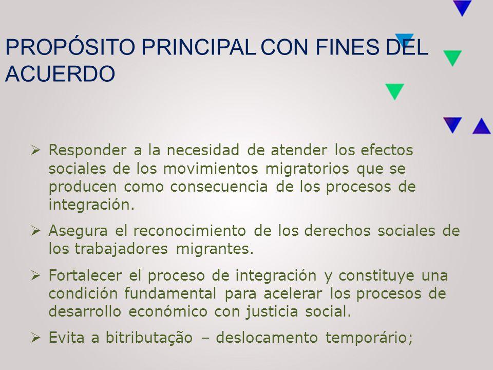  Responder a la necesidad de atender los efectos sociales de los movimientos migratorios que se producen como consecuencia de los procesos de integración.
