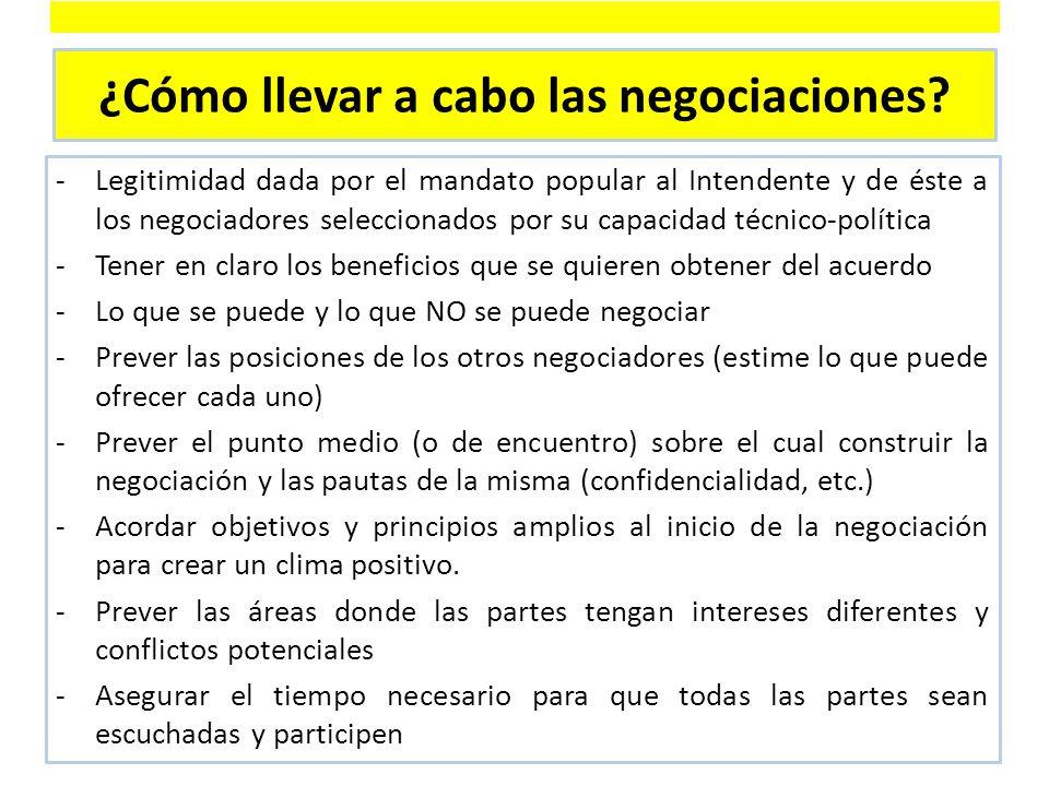 ¿Cómo llevar a cabo las negociaciones.