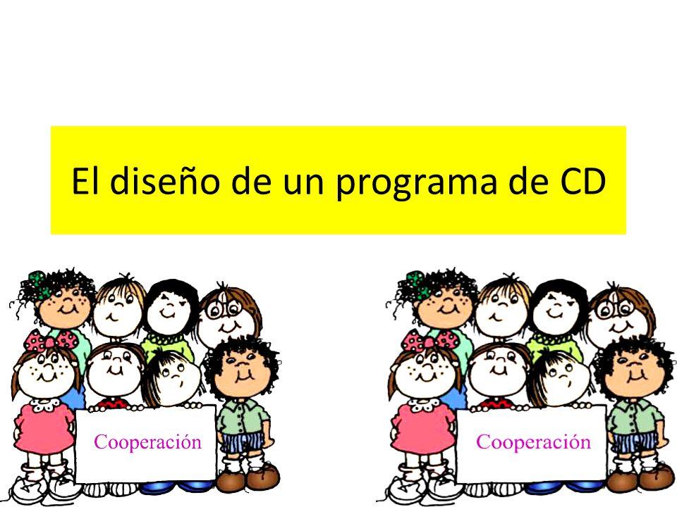 El diseño de un programa de CD