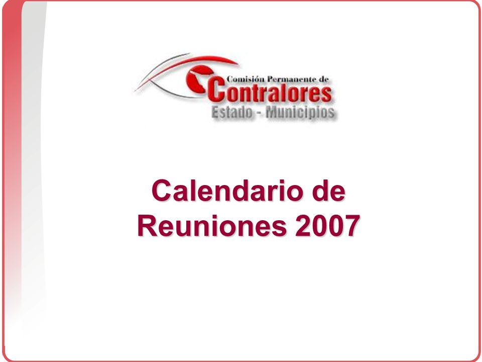 Calendario de Reuniones 2007
