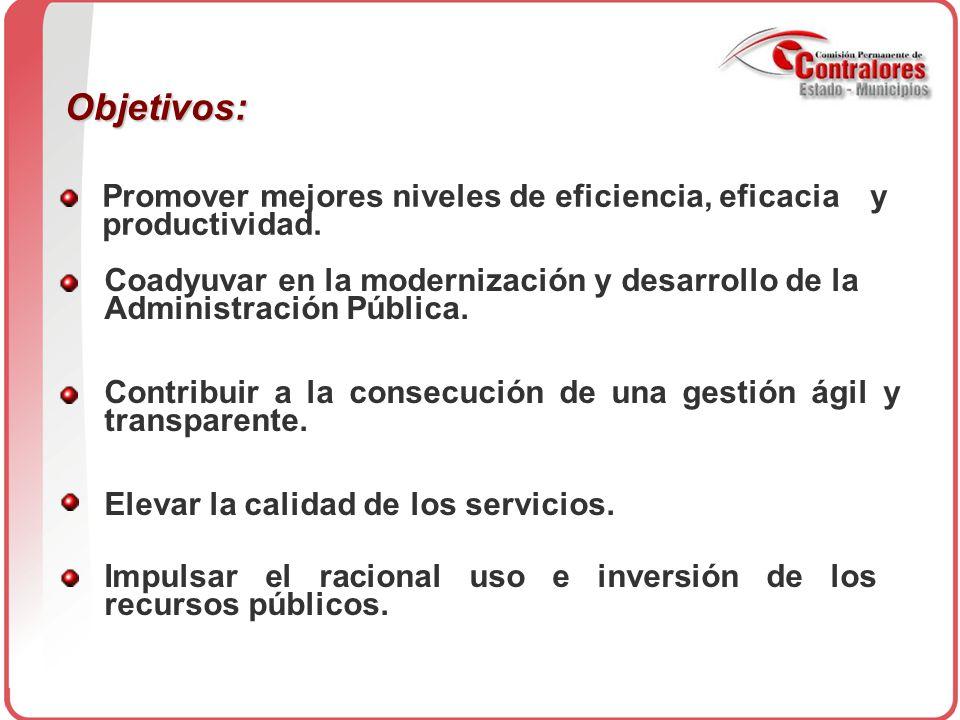 Promover mejores niveles de eficiencia, eficacia y productividad.