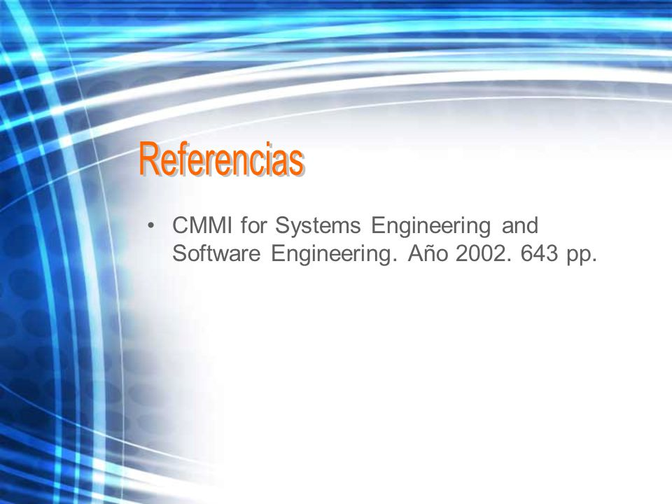 CMMI for Systems Engineering and Software Engineering. Año pp.