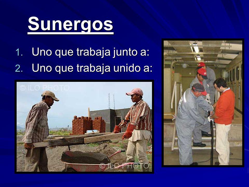 Sunergos Sunergos 1. Uno que trabaja junto a: 2. Uno que trabaja unido a: