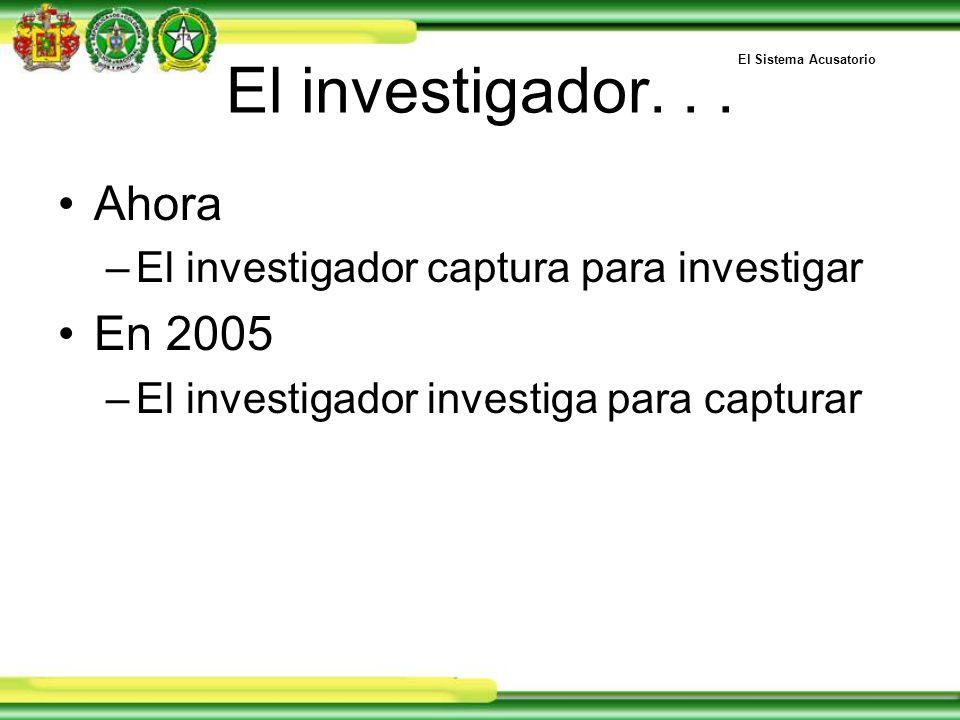 El investigador...