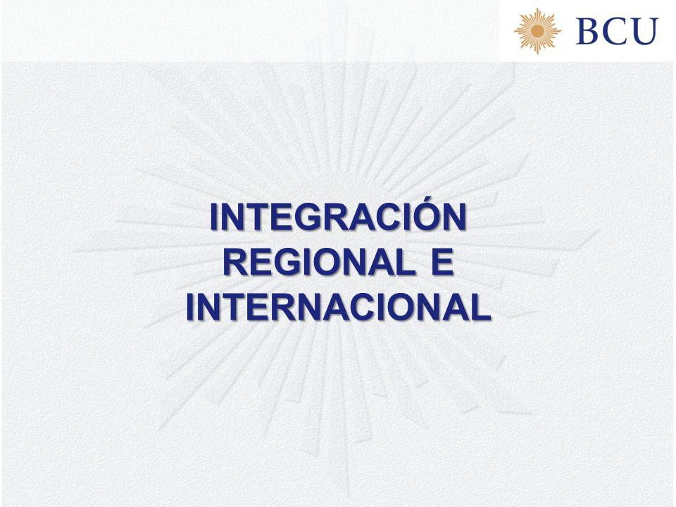 INTEGRACIÓN REGIONAL E INTERNACIONAL