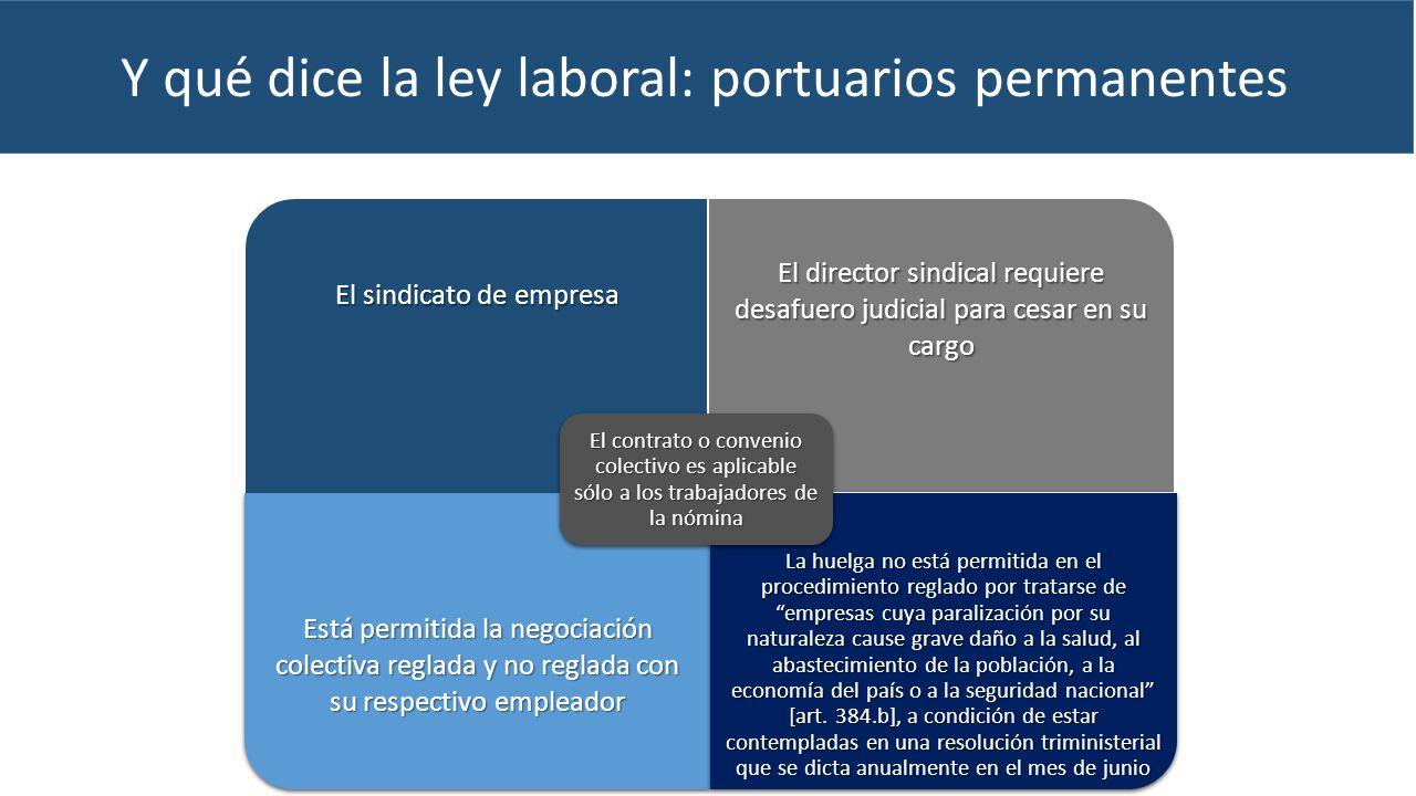 Y qué dice la ley laboral: portuarios permanentes