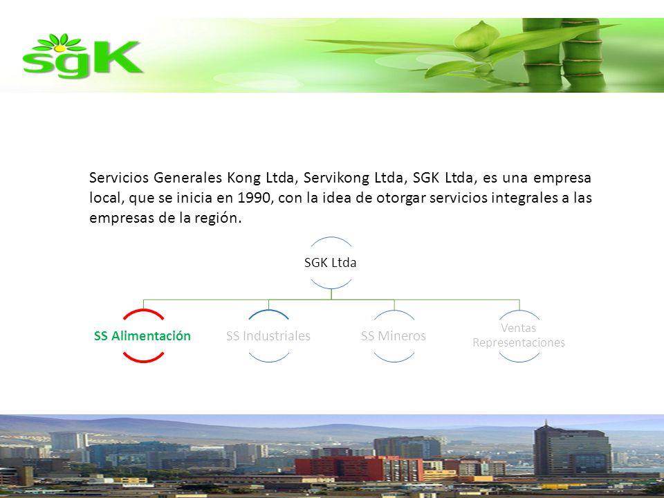 Servicios Generales Kong Ltda, Servikong Ltda, SGK Ltda, es una empresa local, que se inicia en 1990, con la idea de otorgar servicios integrales a las empresas de la región.