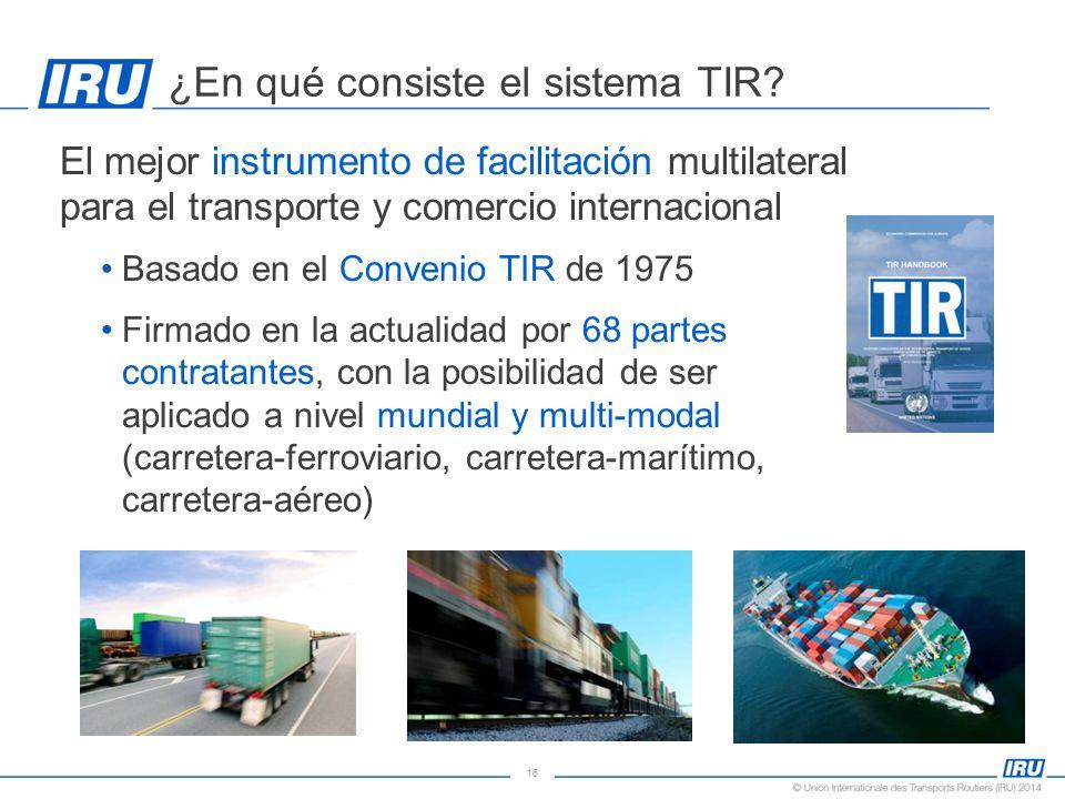 16 ¿En qué consiste el sistema TIR.