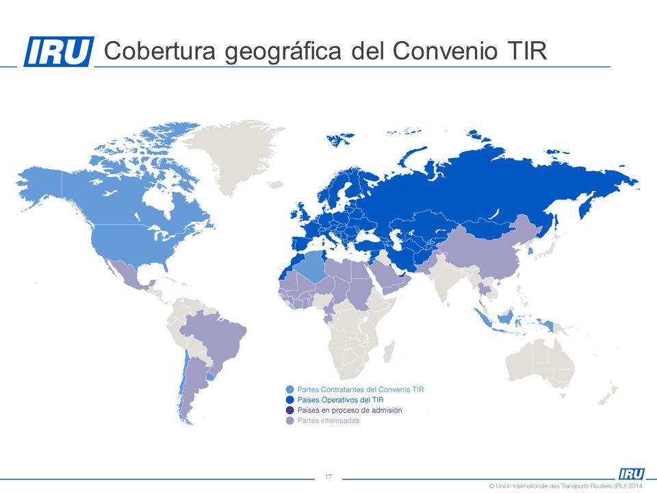17 Cobertura geográfica del Convenio TIR