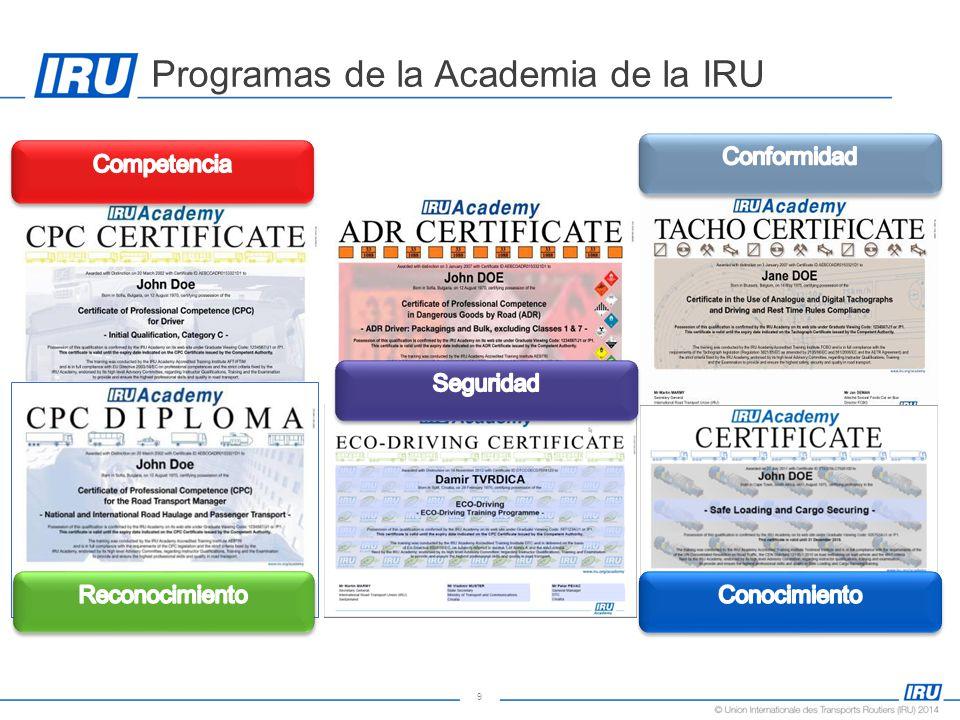 9 Programas de la Academia de la IRU
