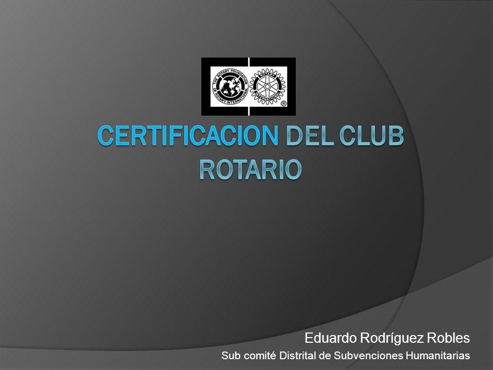 Eduardo Rodríguez Robles Sub comité Distrital de Subvenciones Humanitarias