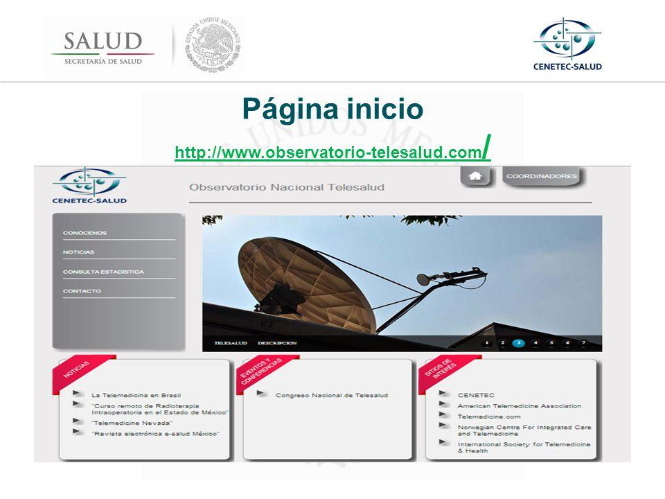 Página inicio http://www.observatorio-telesalud.com / http://www.observatorio-telesalud.com /