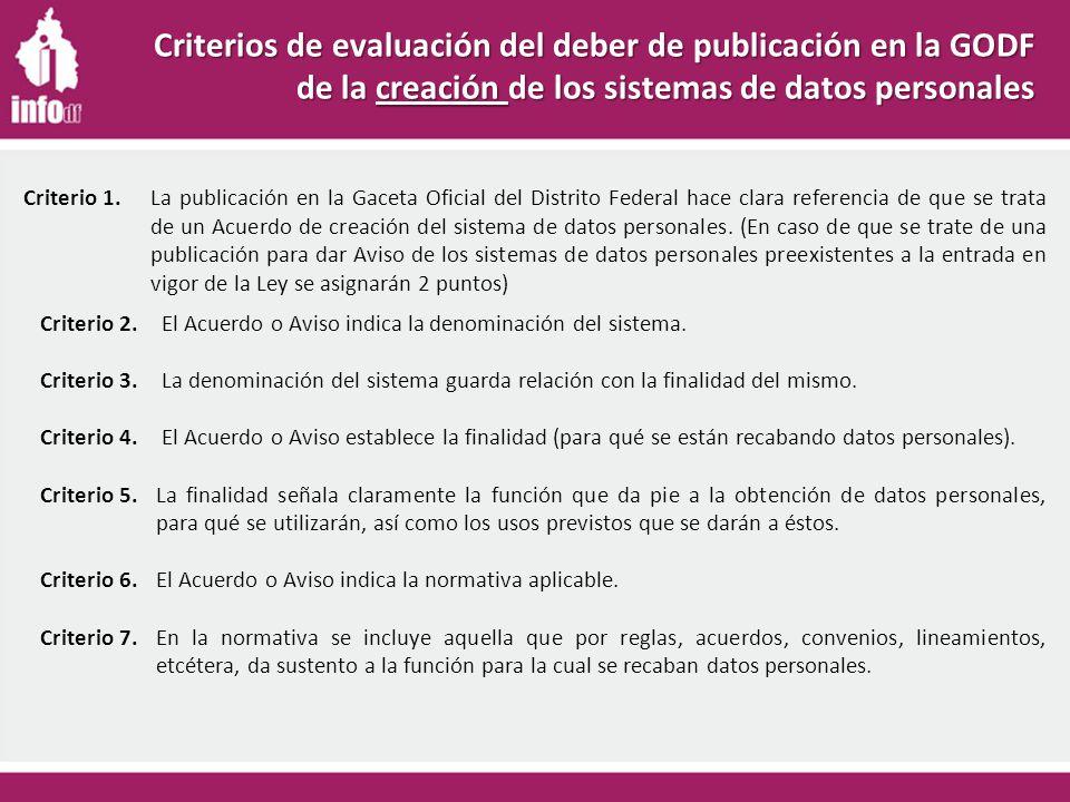 Criterio 2. El Acuerdo o Aviso indica la denominación del sistema.