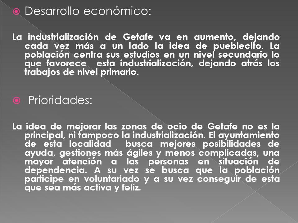  Desarrollo económico: La industrialización de Getafe va en aumento, dejando cada vez más a un lado la idea de pueblecito.
