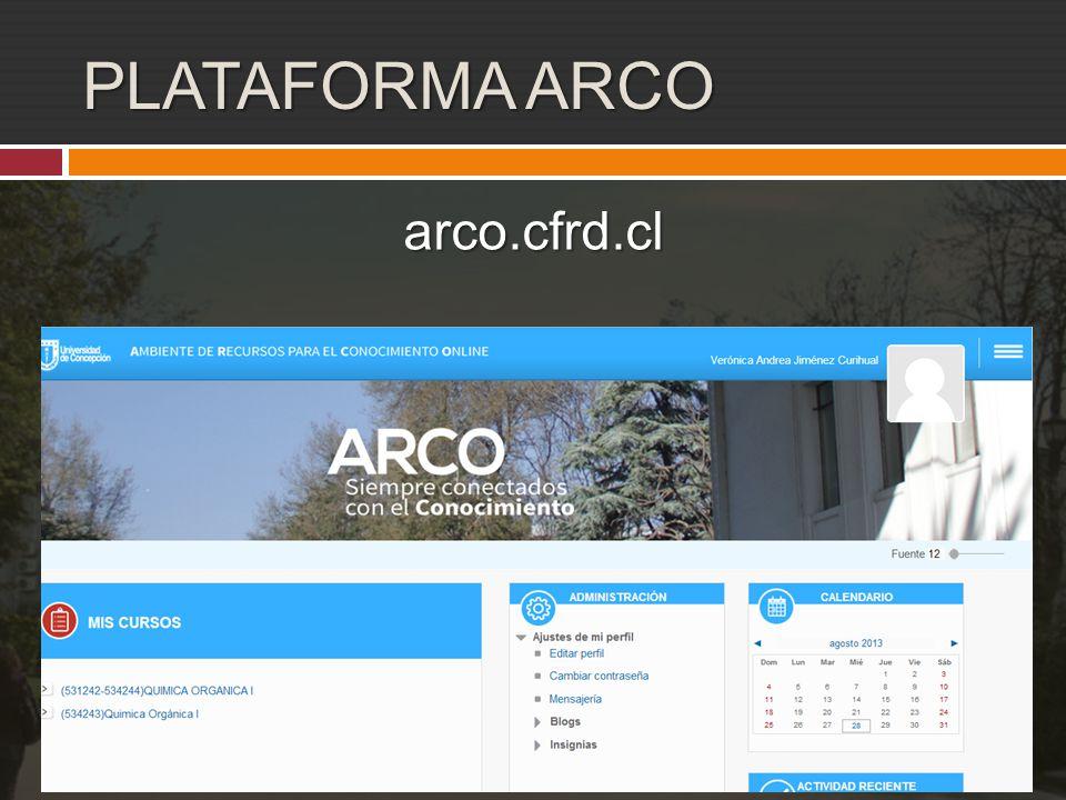 PLATAFORMA ARCO arco.cfrd.cl