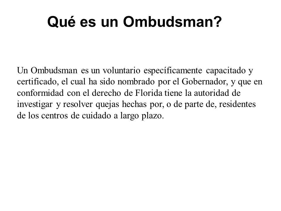 ¿Qué es un Ombudsman.
