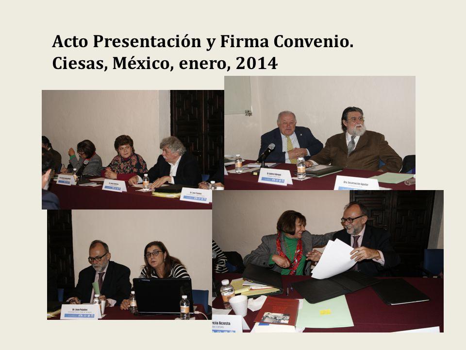 Acto Presentación y Firma Convenio. Ciesas, México, enero, 2014