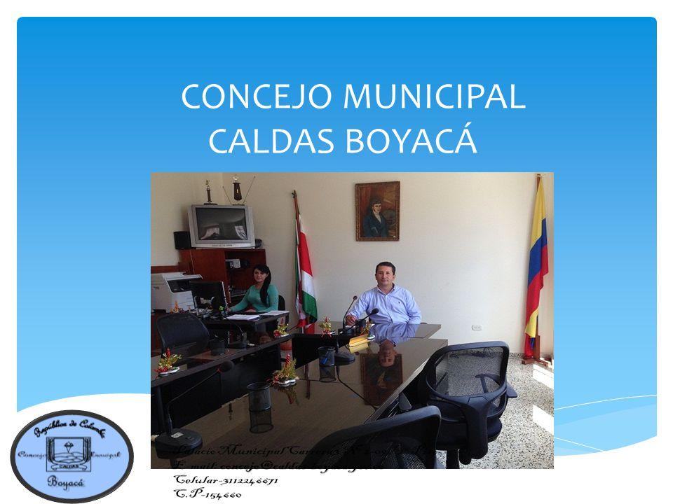 CONCEJO MUNICIPAL CALDAS BOYACÁ