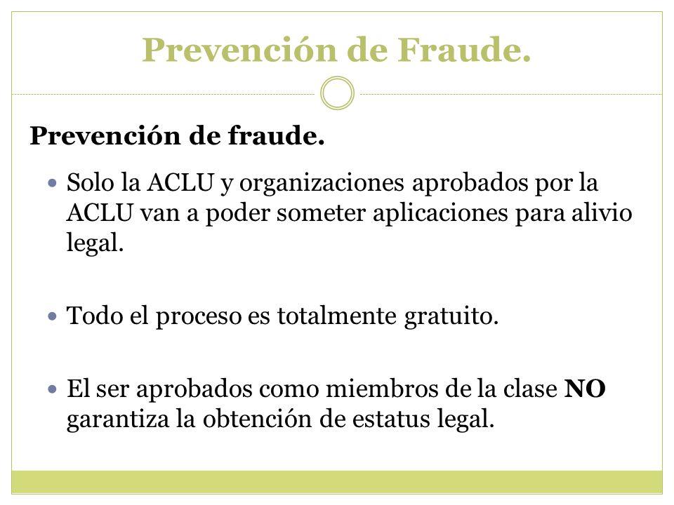 Prevención de Fraude.