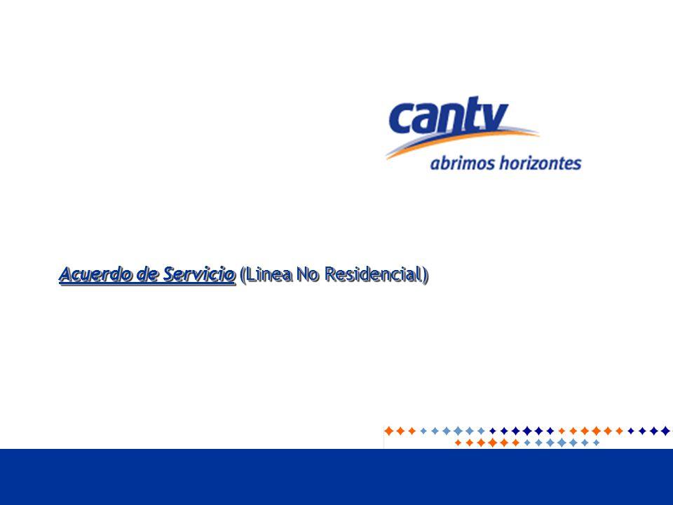 Acuerdo de Servicio (Linea No Residencial)