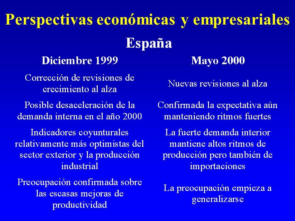 Perspectivas económicas y empresariales