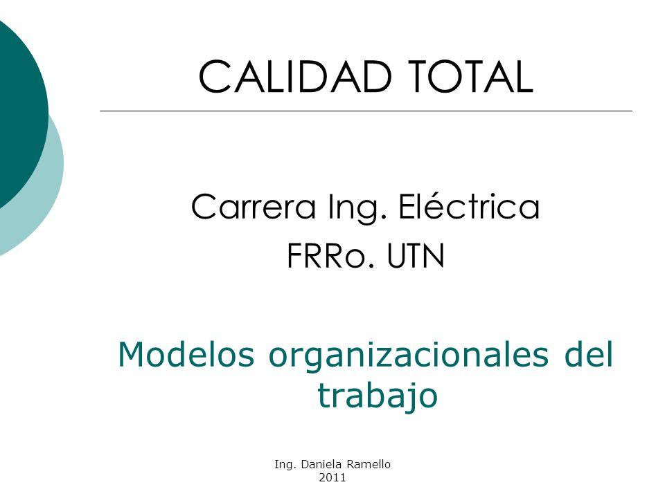 Ing. Daniela Ramello 2011 CALIDAD TOTAL Carrera Ing.