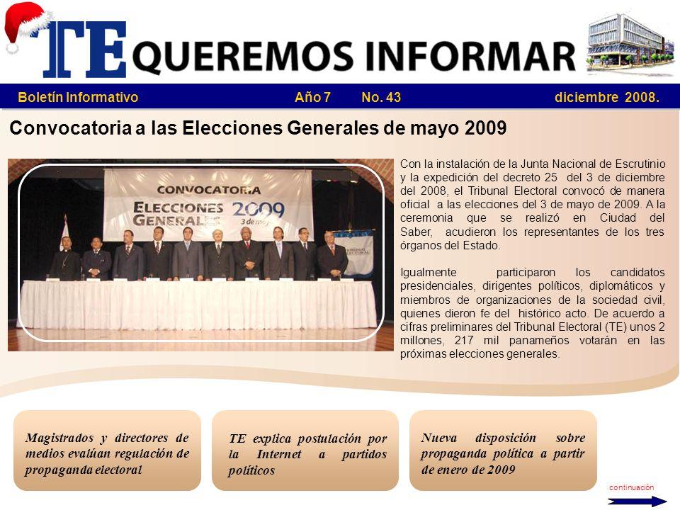 Boletín Informativo Año 7 No. 43 diciembre 2008.