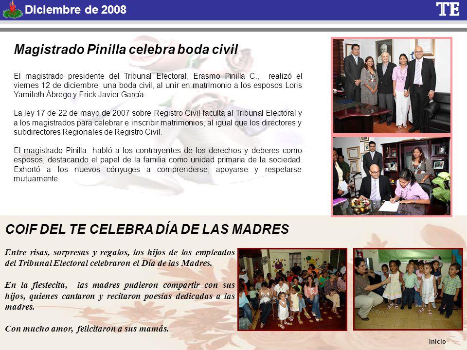 COIF DEL TE CELEBRA DÍA DE LAS MADRES Entre risas, sorpresas y regalos, los hijos de los empleados del Tribunal Electoral celebraron el Día de las Madres.