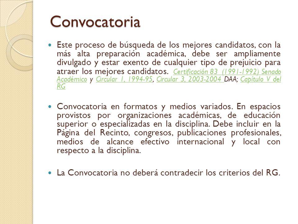 CONVOCATORIA ( Presentación Lic.