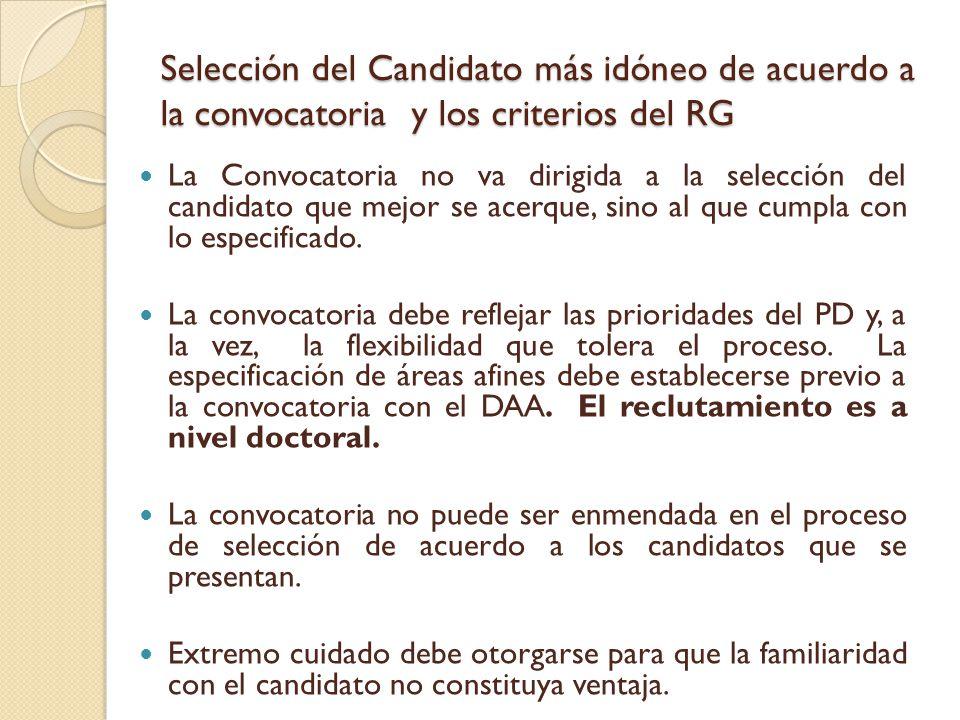 Criterios del Reglamento – Sección 43 Sección 43.1- Calidad del expediente académico y calidad de las universidades donde realizó estudios.