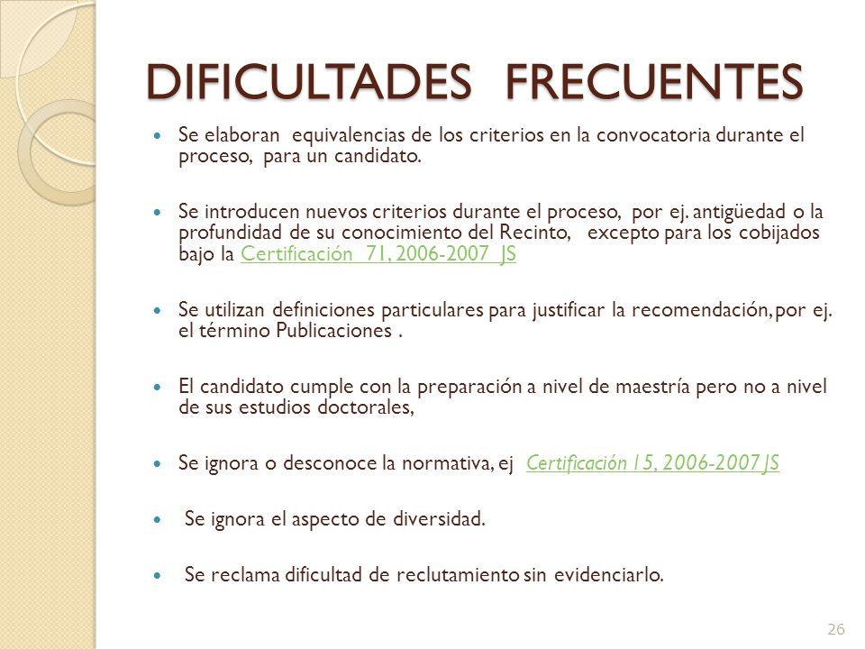 DIFICULTADES FRECUENTES La convocatoria es muy detallada y específica, por ej.