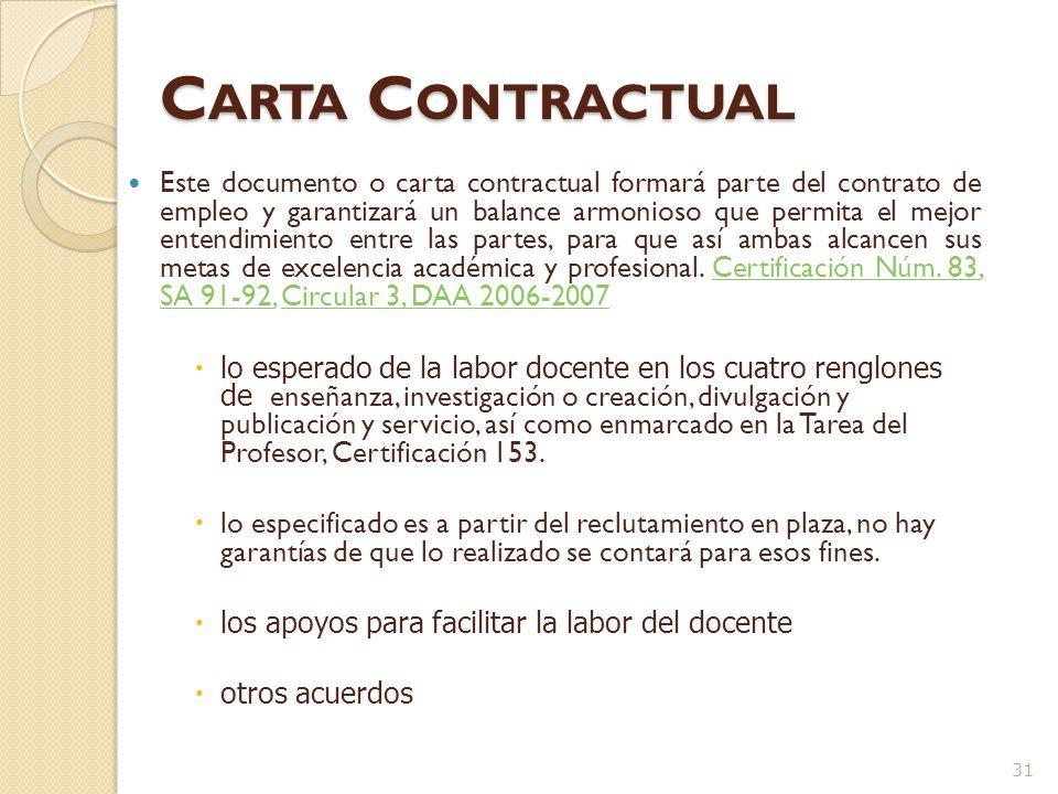 Carta Contractual La Cert.