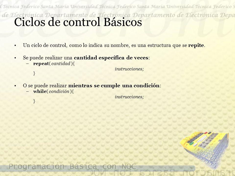 Ciclos de control Básicos Un ciclo de control, como lo indica su nombre, es una estructura que se repite.