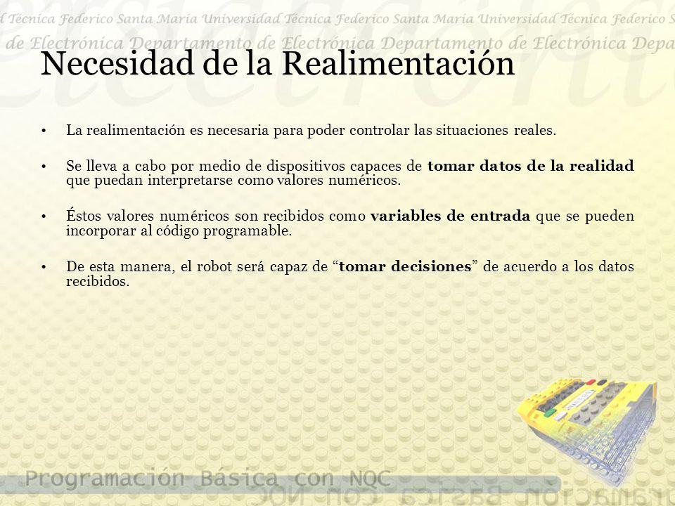 Necesidad de la Realimentación La realimentación es necesaria para poder controlar las situaciones reales.