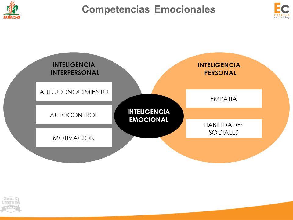 Competencias Emocionales AUTOCONOCIMIENTO AUTOCONTROL MOTIVACION EMPATIA HABILIDADES SOCIALES INTELIGENCIA EMOCIONAL INTELIGENCIA INTERPERSONAL INTELIGENCIA PERSONAL
