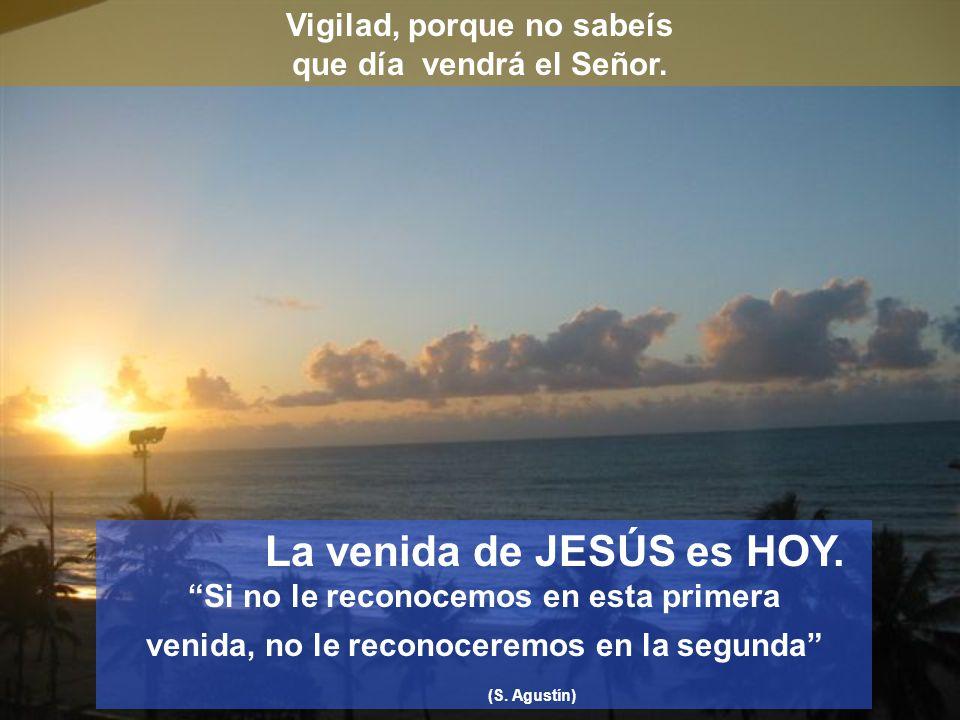 Vigilad, porque no sabeís que día vendrá el Señor.
