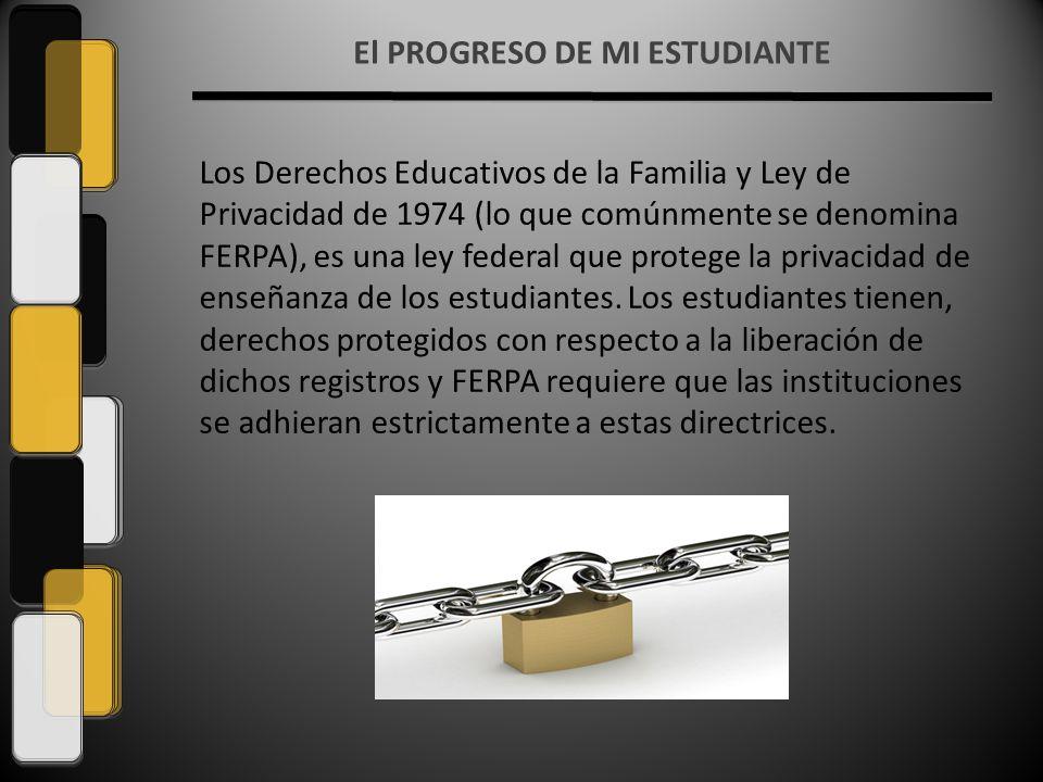 Los Derechos Educativos de la Familia y Ley de Privacidad de 1974 (lo que comúnmente se denomina FERPA), es una ley federal que protege la privacidad de enseñanza de los estudiantes.