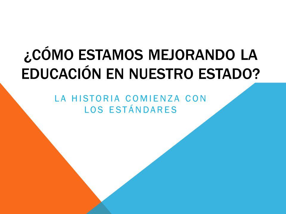 ¿CÓMO ESTAMOS MEJORANDO LA EDUCACIÓN EN NUESTRO ESTADO LA HISTORIA COMIENZA CON LOS ESTÁNDARES